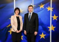 Visite de Monique Goyens, directrice générale du Bureau européen des unions de consommateurs (BEUC), à la CE