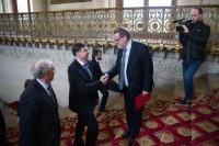 Visite de Valdis Dombrovskis, vice-président de la CE, en France