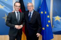 Visite de Heiko Maas, ministre fédéral allemand des Affaires étrangères, à la CE