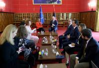Visite de Federica Mogherini, vice-présidente de la CE, en Albanie