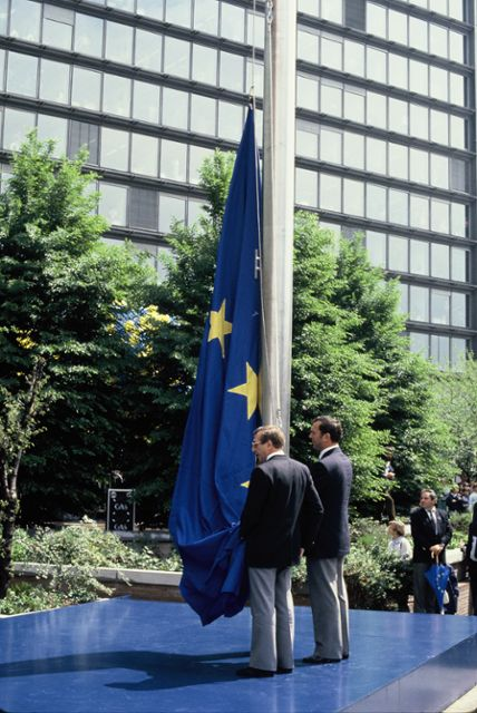 Inauguration of the European flag