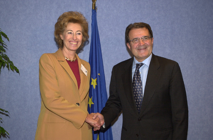 Visit of Letizia Moratti, Italian Minister for Education, the Universities and Research, to the EC