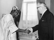 Presentation of the credentials of the Head of the Mission of Togo to Walter Hallstein, President of the Commission of the EEC