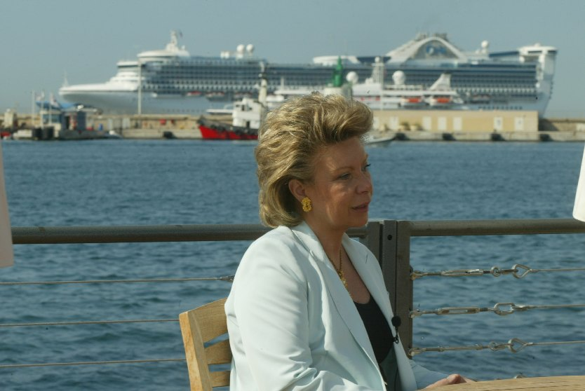 Viviane Reding, Member of the EC, at the 57th Cannes Festival
