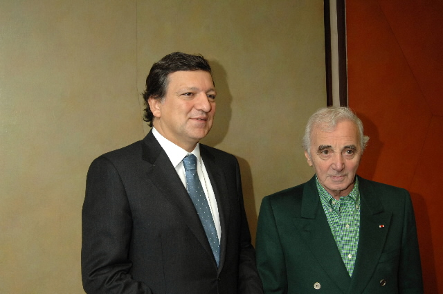 Visit by Charles Aznavour, permanent ambassador of Unesco in Armenia, to the EC
