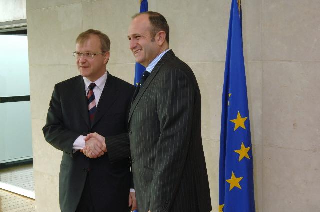 Visite de Vlado Bučkovski, Premier ministre de l'ancienne République yougoslave de Macédoine, à la CE