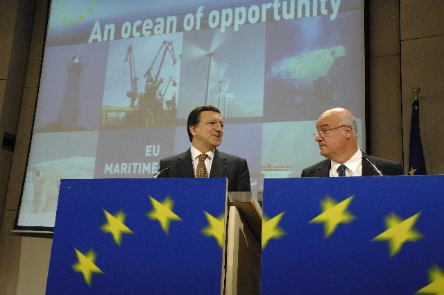 Conférence de presse conjointe de José Manuel Barroso et Joe Borg sur une politique maritime intégrée pour l'Union européenne