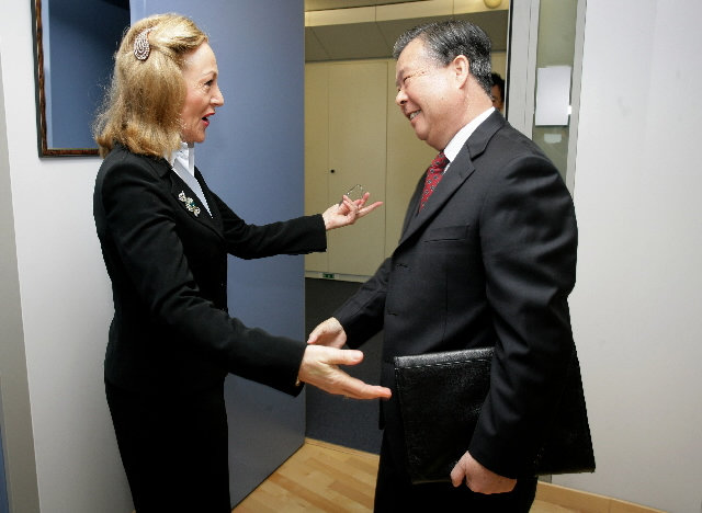 Visit by Guang Chengyuan, Head of the mission of China to the EC, to the EC