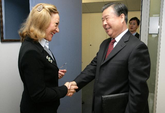 Visite de Guang Chengyuan, chef de la mission de Chine auprès des CE, à la CE