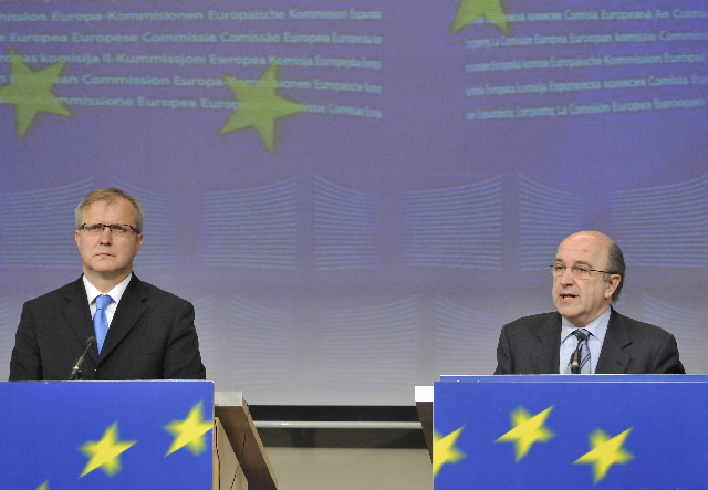 Joint press conference by Joaquín Almunia and Olli Rehn, Members of the EC, on the five years of an enlarged EU