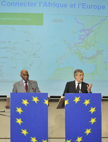 Joint press conference by Abdoulaye Wade and Antonio Tajani on Reinforcing cooperation between Europe and Africa in the transport sector