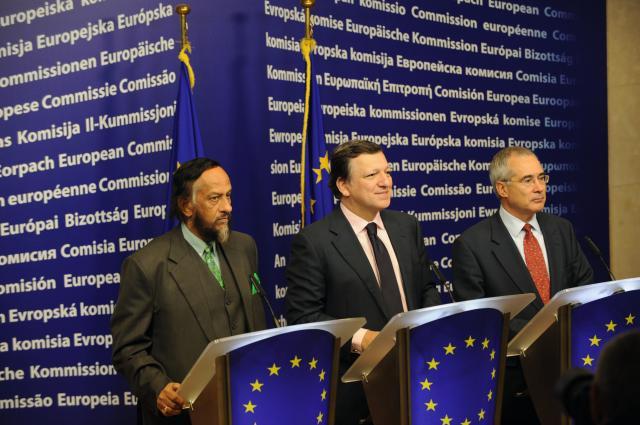 Visite de Nicholas Stern et Rajendra Pachauri à la CE