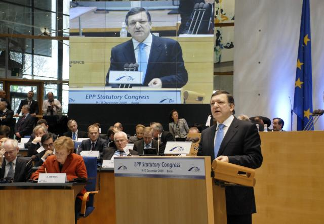 Participation of José Manuel Barroso, President of the EC, at the Congress followed by the EPP Summit