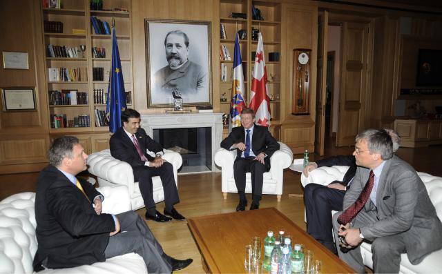 Visite de Stefan Füle, membre de la CE, en Géorgie