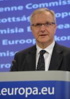 Conférence de presse d'Olli Rehn, membre de la CE, sur la situation économique et budgétaire de la Grèce