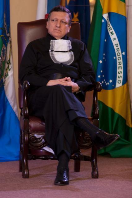 Visite de José Manuel Barroso, président de la CE, à Rio de Janeiro