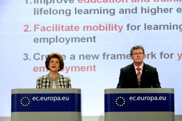Joint press conference by Androulla Vassiliou and László Andor, Members of the EC, on the Youth on the Move initiative
