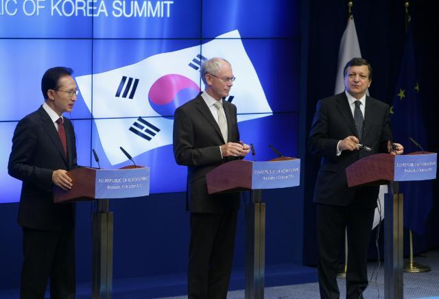 Participation of José Manuel Barroso, President of the EC, at the EU/South Korea Summit