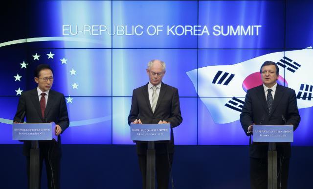 Participation de José Manuel Barroso, président de la CE, au sommet UE/Corée du Sud