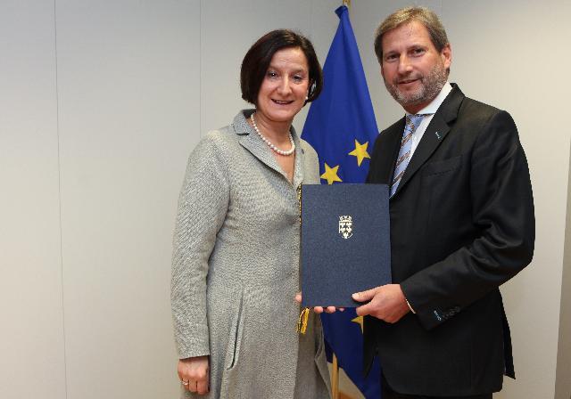 Visite de Johanna Mikl-Leitner, ministre régionale pour l'Emploi, les Femmes, la Famille et les Affaires sociales et européennes du Land de Niederösterreich et vice-présidente d'ARE, à la CE