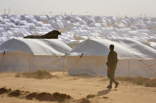 The Choucha refugee camp, located at Ras Jedir, at the border between Tunisia and Libya