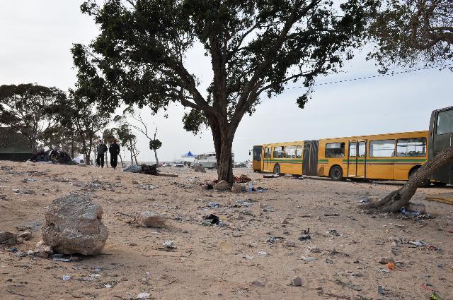 Le camp de réfugiés de Choucha, situé à Ras Jedir, à la frontière entre la Tunisie et la Libye