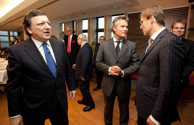 Participation of José Manuel Barroso, President of the EC, at the working dinner with a delegation from the European Publishers Council
