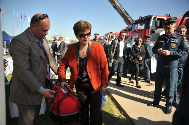 Visite de Kristalina Georgieva, membre de la CE, en Russie