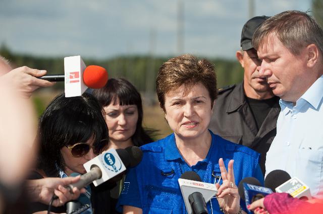 Visit of Kristalina Georgieva, Member of the EC, to Poland for Carpathex 2011