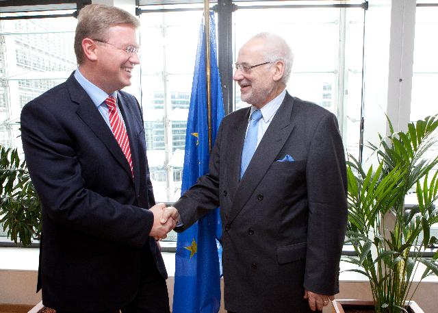 Visit of Erhard Busek, Coordinator of the SECI, to the EC