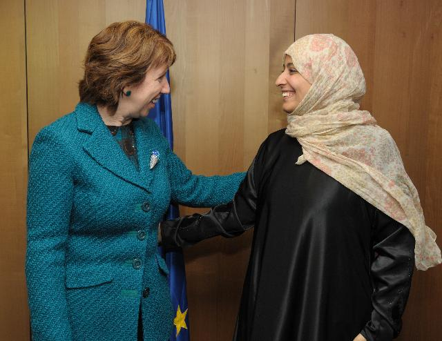 Visit of Tawakkol Karman, Yemeni Journalist and Human Rights Activist, 2011 Nobel Peace Prize laureate, to the EC