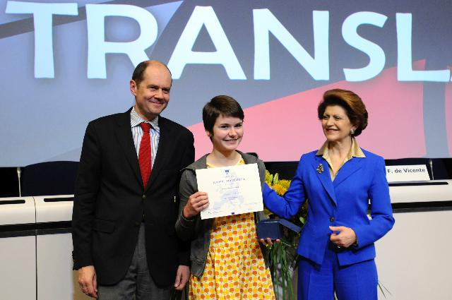 Award ceremony of the 2011 translation contest
