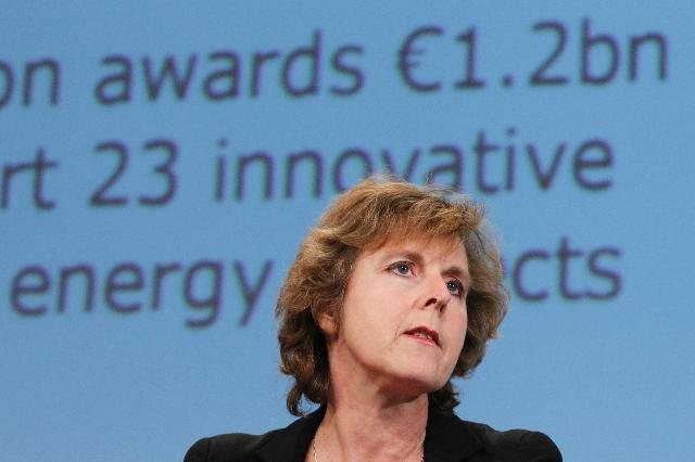 Press conference by Connie Hedegaard, Member of the EC, on the so-called NER300 funding programme