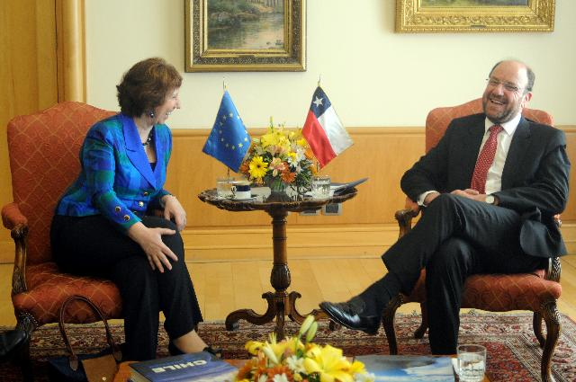 Visit of Catherine Ashton, Vice-President of the EC, to Chile