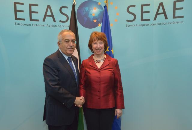 Visite de Salam Fayyad, Premier ministre palestinien, à la CE