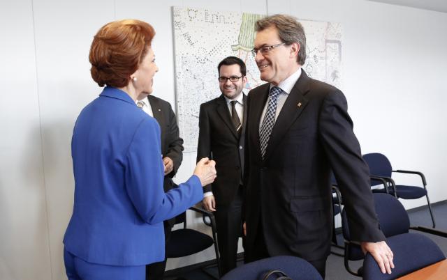 Visite d'Artur Mas, président de la Généralité de Catalogne, à la CE