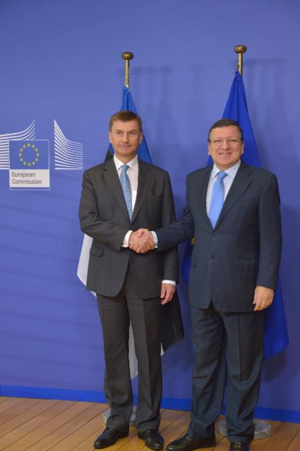 Visit of Andrus Ansip, Estonian Prime Minister, to the EC