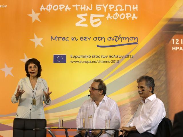 Dialogue avec les citoyens en Crète avec Maria Damanaki