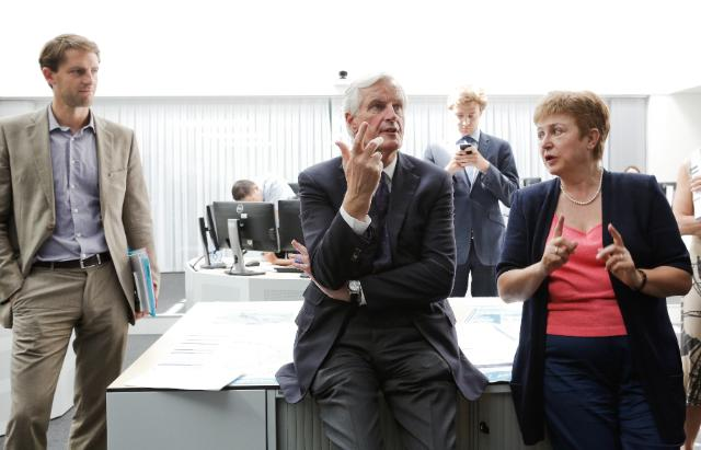 Joint visit of Michel Barnier and Kristalina Georgieva, Members of the EC, to the Emergency Response Centre