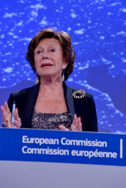 Conférence de presse de Neelie Kroes, vice-présidente de la CE, sur la communication intitulée 'Un continent connecté: créer un marché unique des télécommunications'