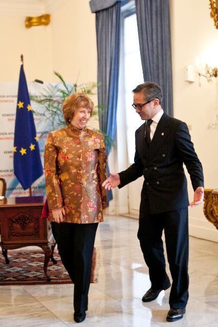 Visit of Catherine Ashton, Vice-President of the EC, to Indonesia