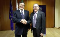 Rencontre entre José Manuel Barroso, président de la CE, Antonio Tajani, vice-président de la CE, et les membres du Conseil d'administration de la Confindustria