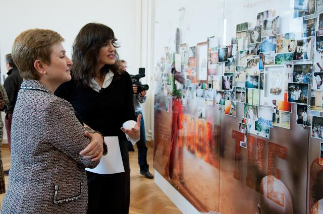 Opening of the 'EU Children of Peace' exhibition, with the participation of Kristalina Georgieva, Member of the EC