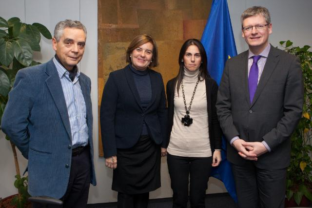 Visit of a delegation from the Novia Salcedo Foundation to the EC