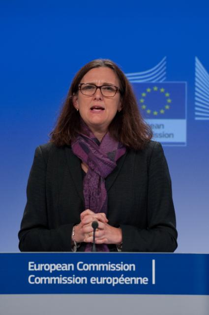 Press conference by Cecilia Malmström, Member of the EC, on the follow up of the tragedy in Lampedusa