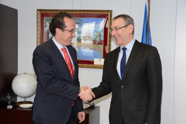 Visite de Juan Manuel Valle Pereña, directeur général de l'Agence mexicaine de coopération internationale pour le développement, à la CE