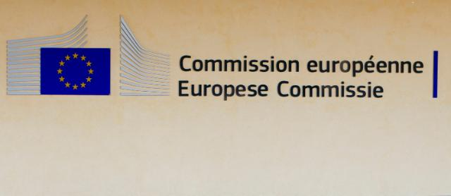 The logo of the European Comission on the Berlaymont building