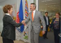 "Illustration of ""Visit of Eric Merkel-Sobotta, Executive Vice-President Corporate Communications at Springer, to the EC"""