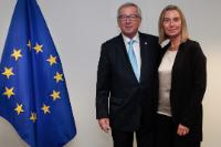 Meeting between Federica Mogherini, Italian Minister for Foreign Affairs, and Jean-Claude Juncker, President-elect of the EC