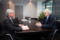 Meeting between Christos Stylianides, Member of the EP, and Jean-Claude Juncker, President-elect of the EC
